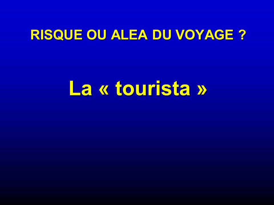 RISQUE OU ALEA DU VOYAGE La « tourista »