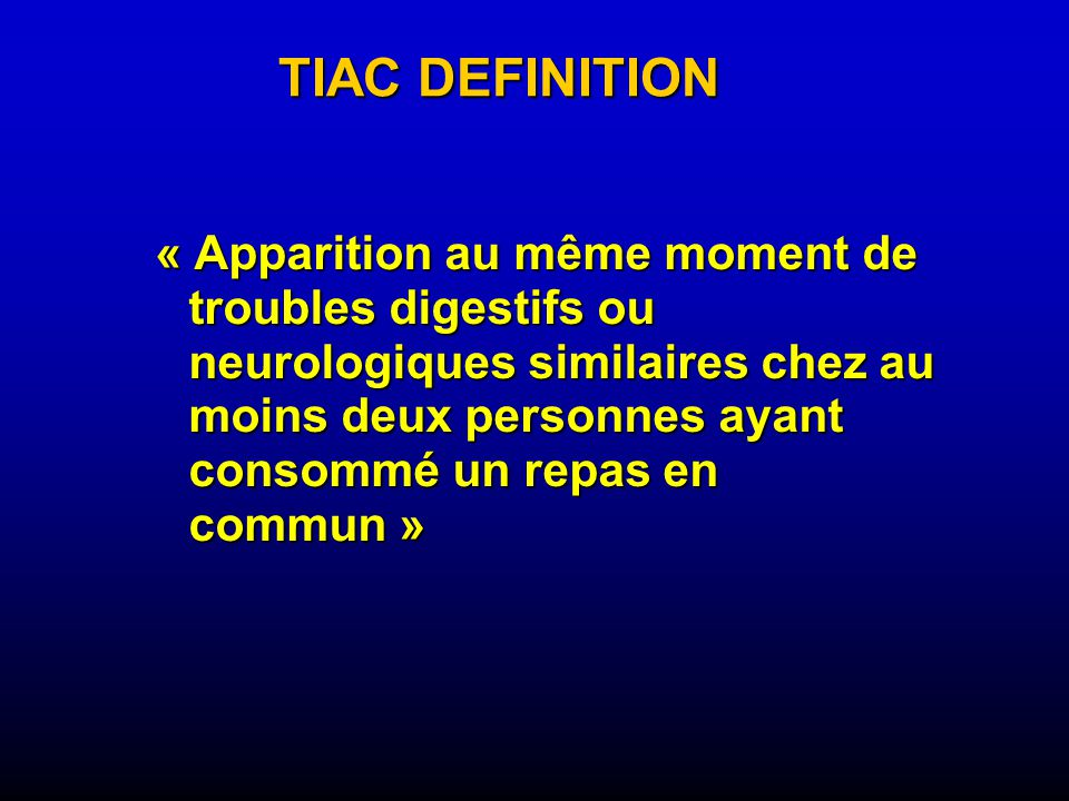 TIAC DEFINITION
