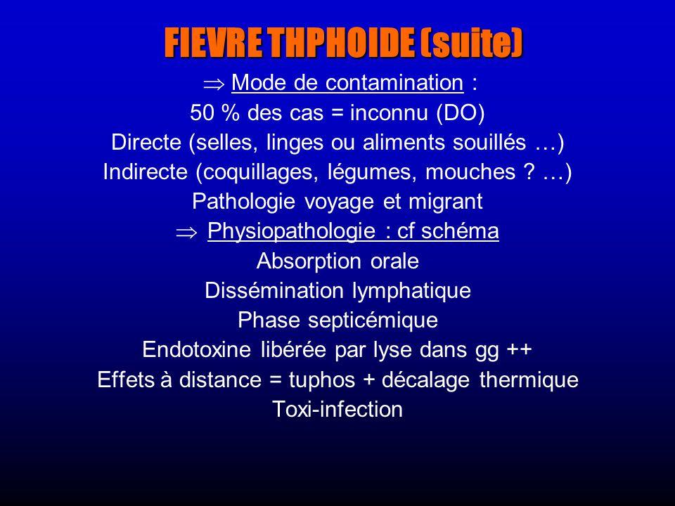 FIEVRE THPHOIDE (suite)