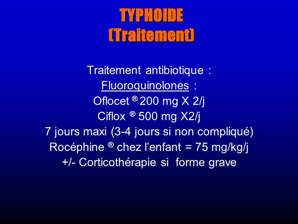 TYPHOIDE (Traitement)