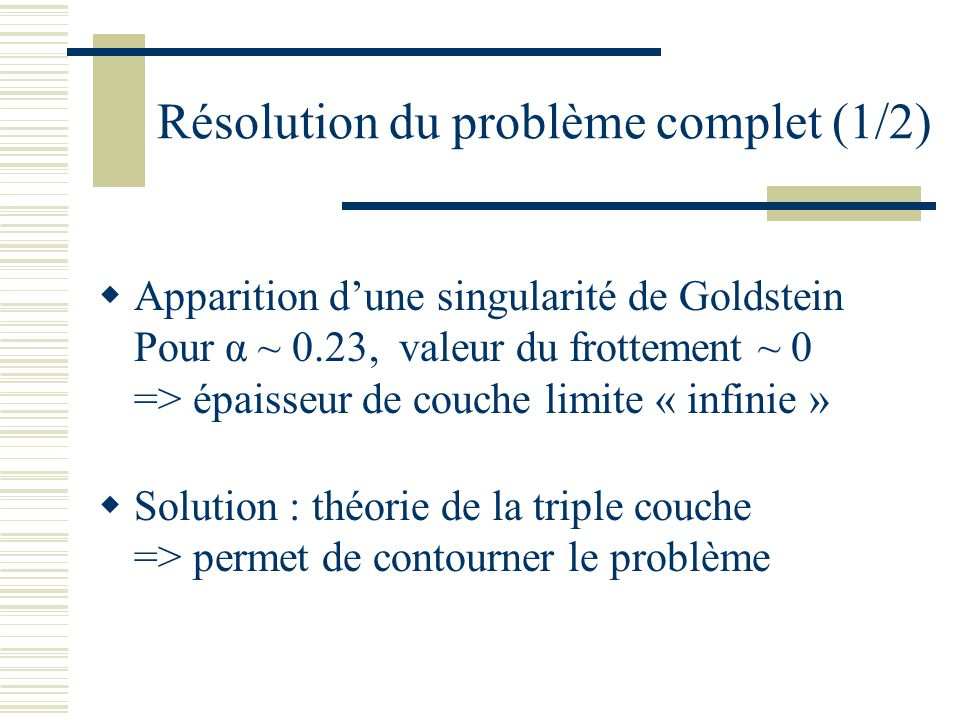 Résolution du problème complet (1/2)