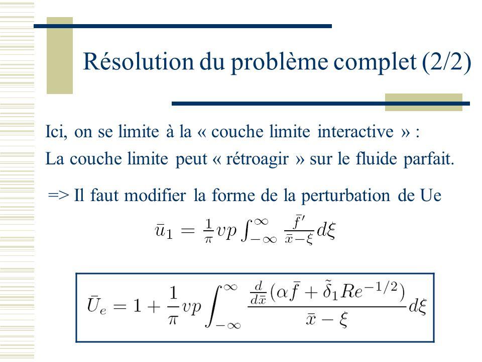 Résolution du problème complet (2/2)