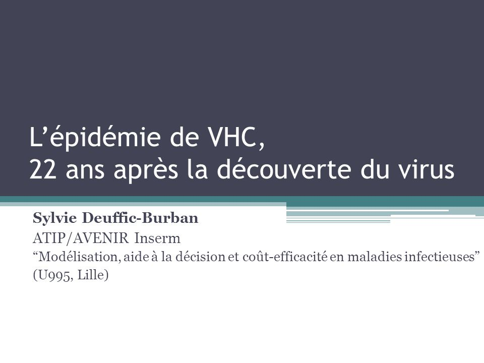 L'épidémie de VHC, 22 ans après la découverte du virus