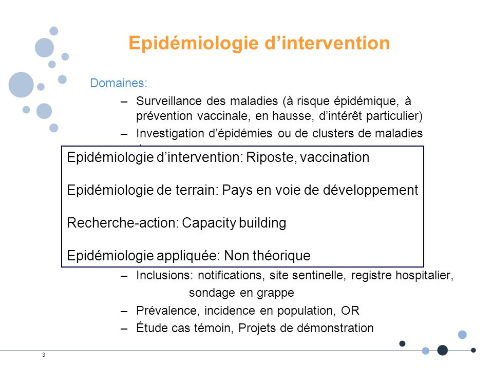 Epidémiologie d'intervention