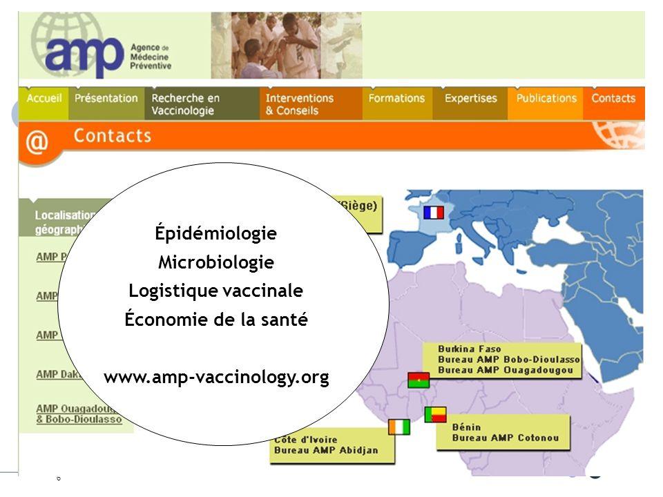 Épidémiologie Microbiologie Logistique vaccinale Économie de la santé www.amp-vaccinology.org