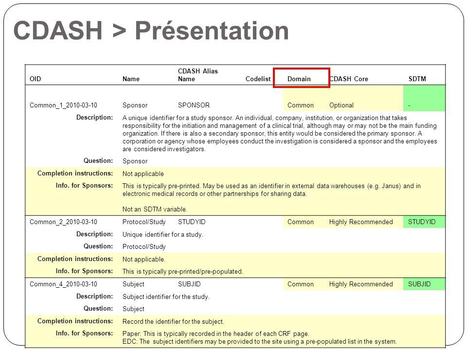 CDASH > Présentation