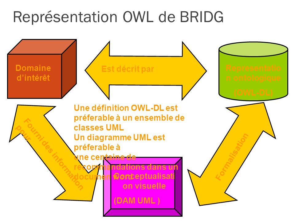 Représentation OWL de BRIDG