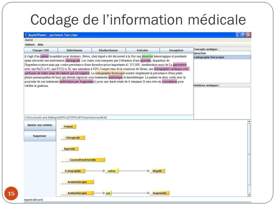 Codage de l'information médicale