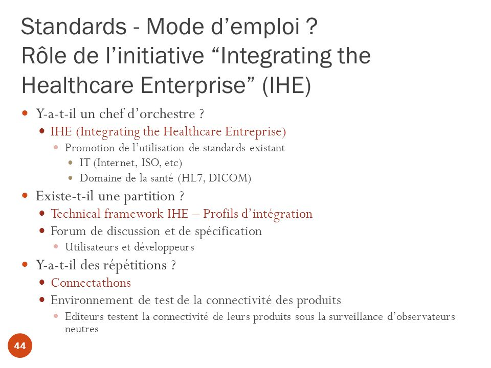 Standards - Mode d'emploi