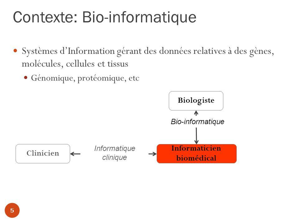 Contexte: Bio-informatique