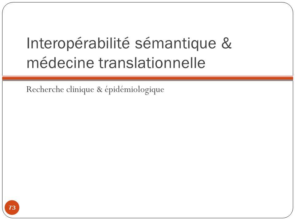Interopérabilité sémantique & médecine translationnelle