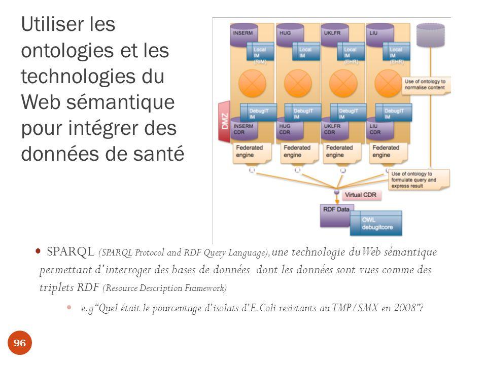 Utiliser les ontologies et les technologies du Web sémantique pour intégrer des données de santé