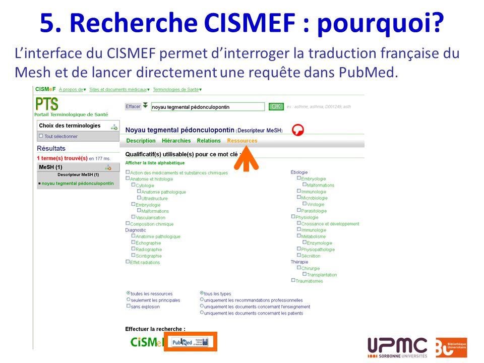 5. Recherche CISMEF : pourquoi