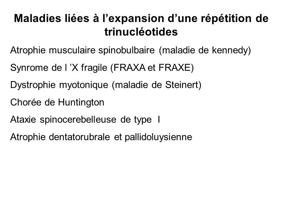 Maladies liées à l'expansion d'une répétition de trinucléotides