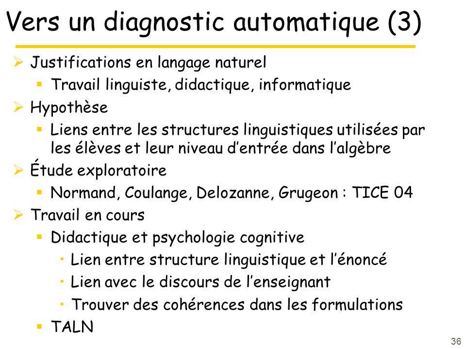 Vers un diagnostic automatique (3)