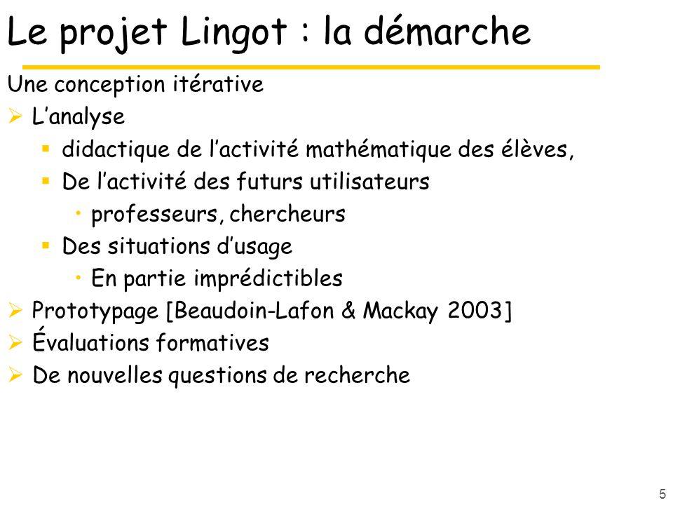 Le projet Lingot : la démarche