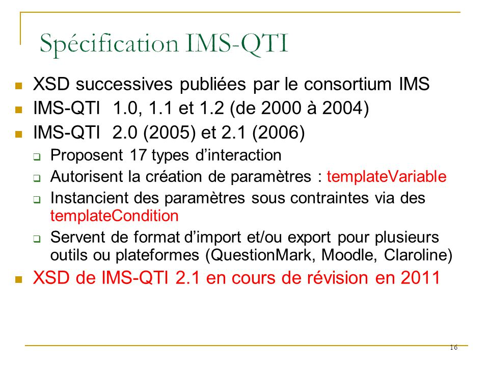 Spécification IMS-QTI