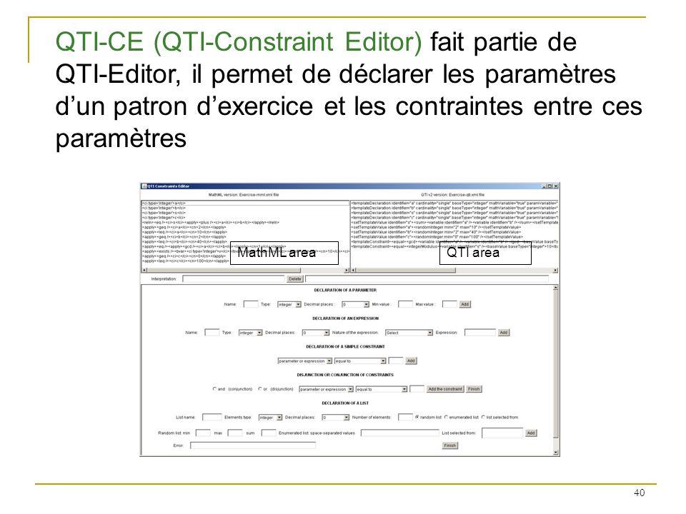 QTI-CE (QTI-Constraint Editor) fait partie de