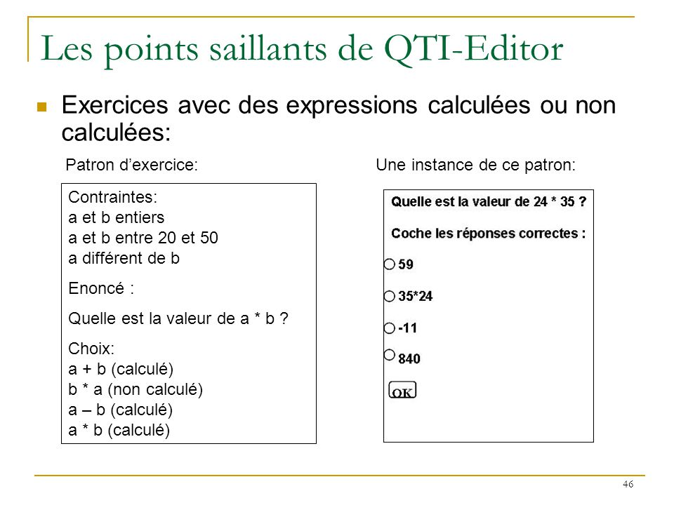 Les points saillants de QTI-Editor