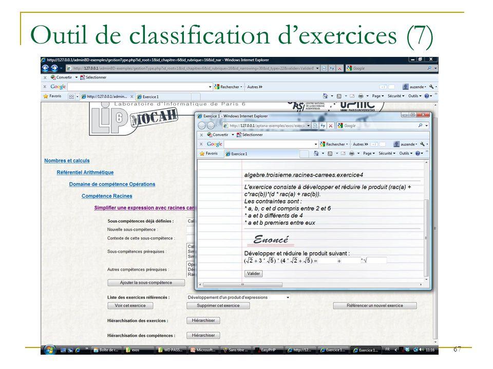 Outil de classification d'exercices (7)