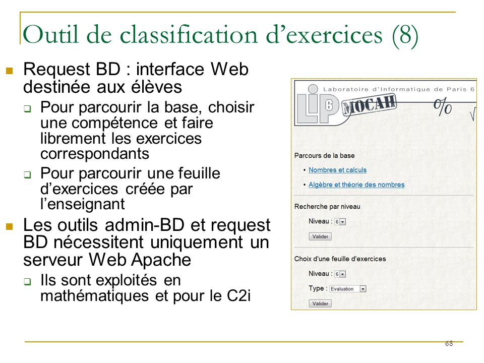 Outil de classification d'exercices (8)