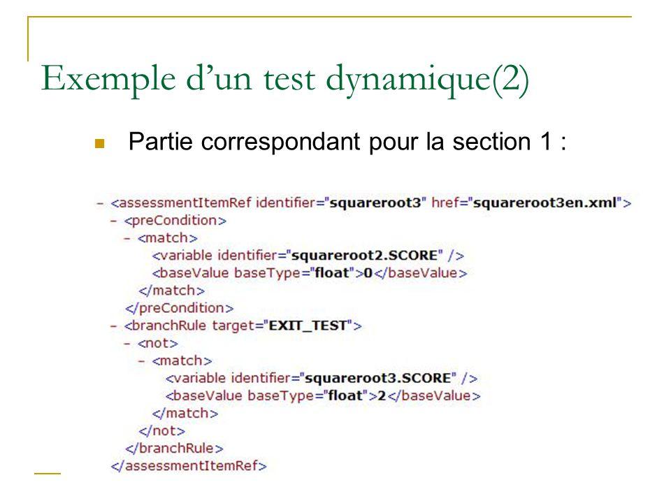 Exemple d'un test dynamique(2)