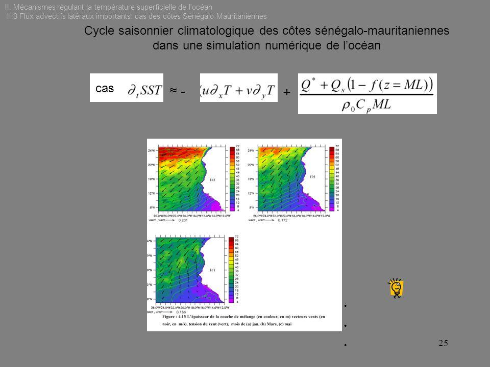 II. Mécanismes régulant la température superficielle de l océan