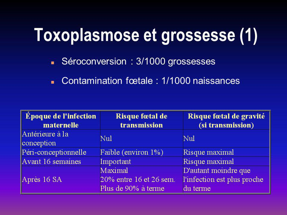 Toxoplasmose et grossesse (1)