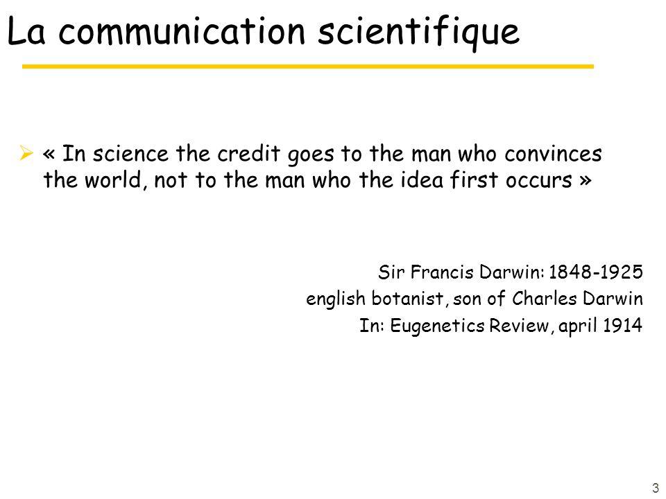 La communication scientifique