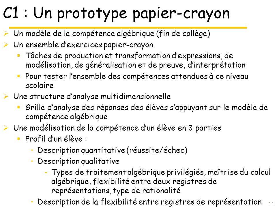 C1 : Un prototype papier-crayon
