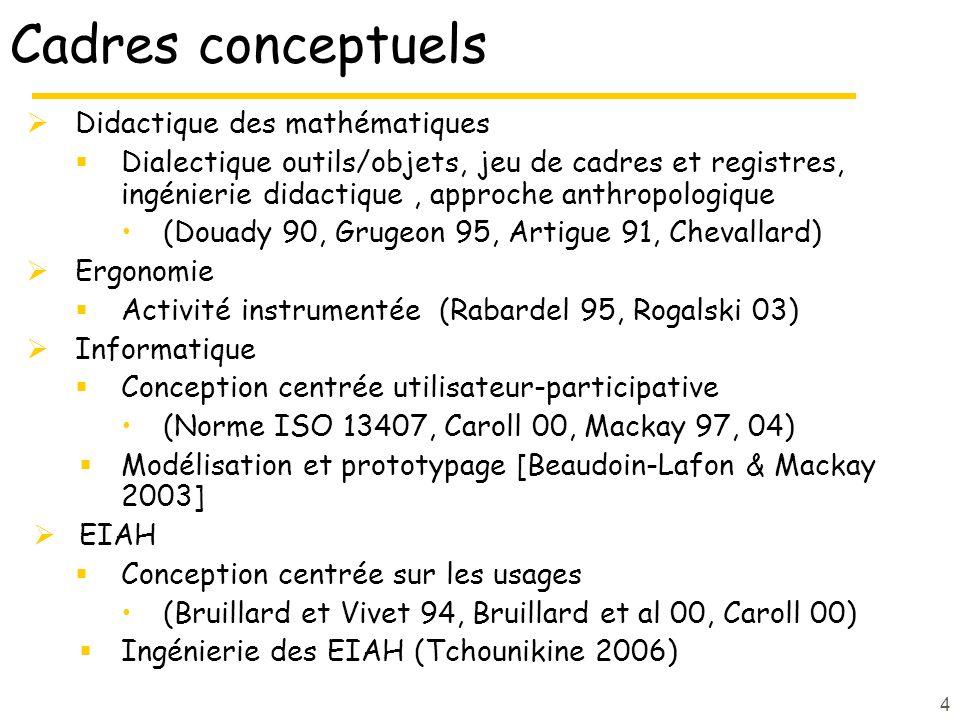 Cadres conceptuels Didactique des mathématiques