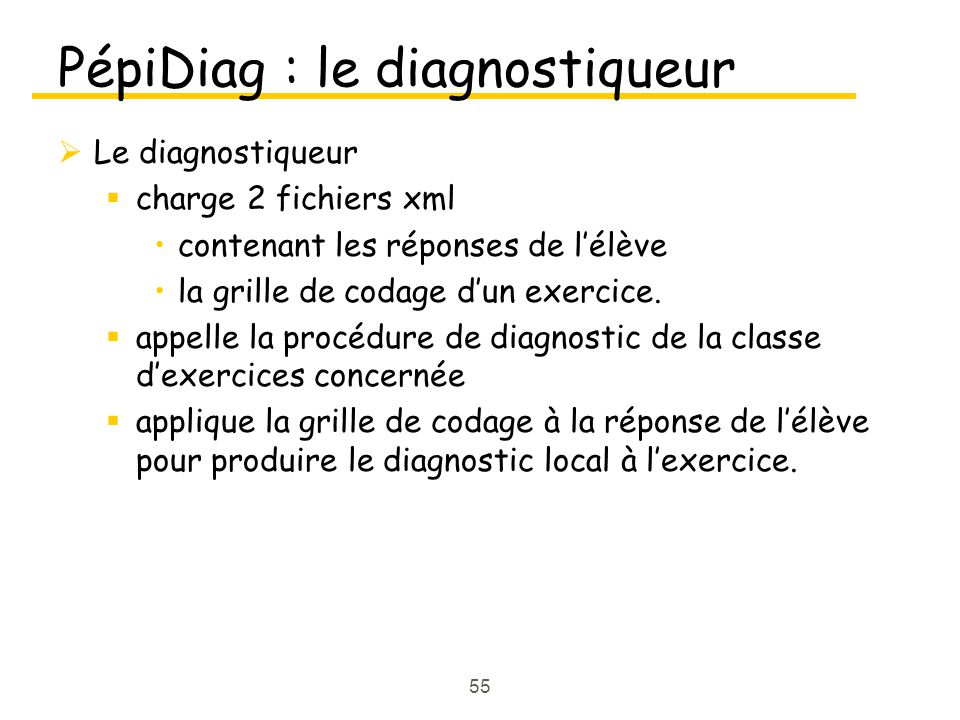 PépiDiag : le diagnostiqueur