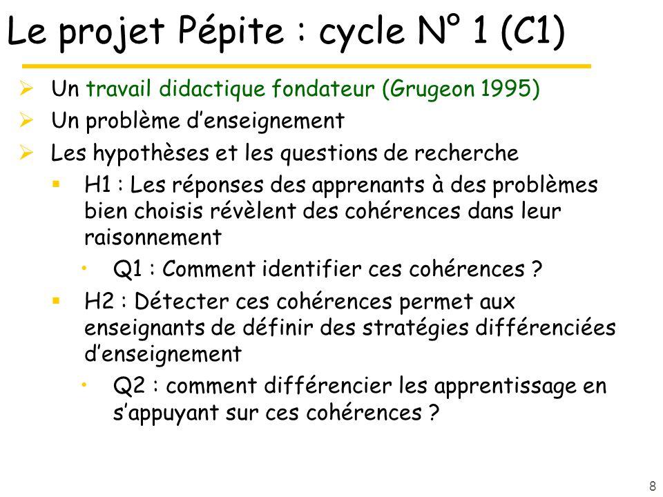 Le projet Pépite : cycle N° 1 (C1)