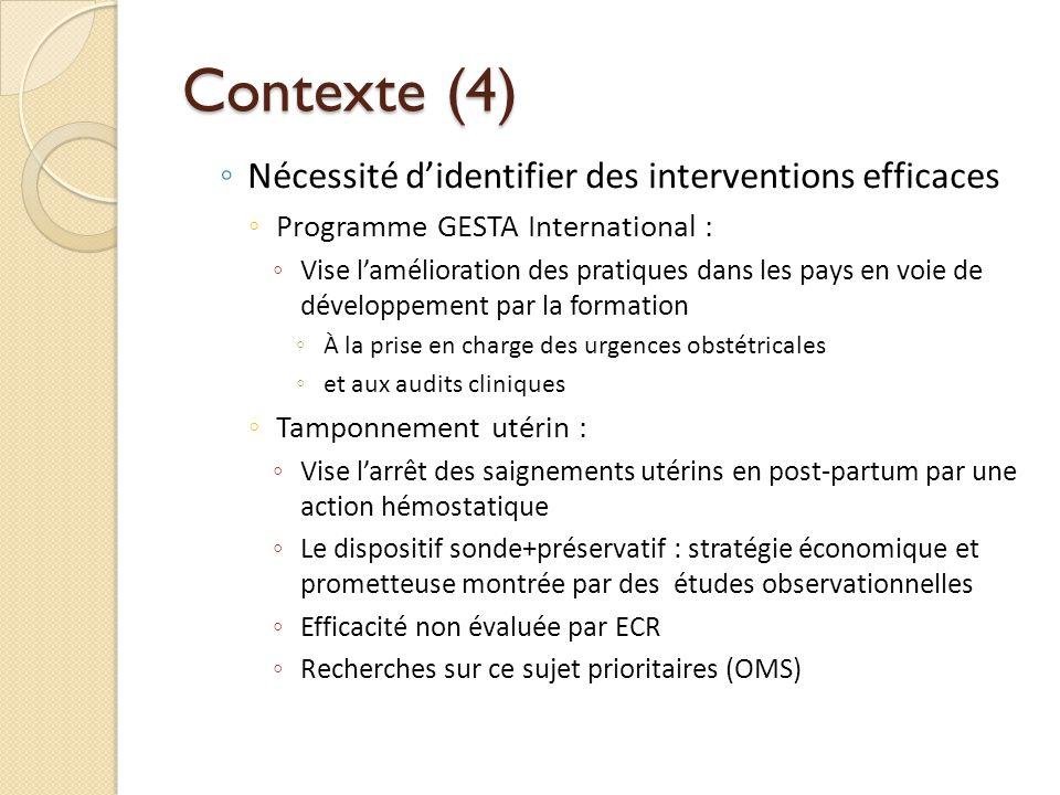 Contexte (4) Nécessité d'identifier des interventions efficaces