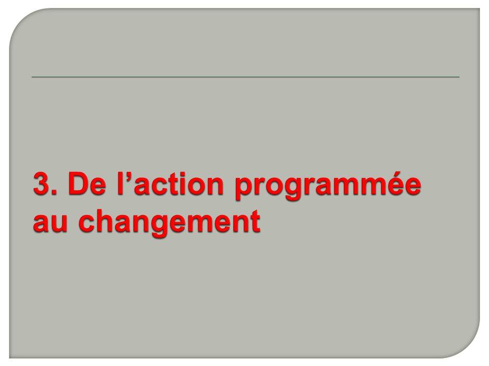 3. De l'action programmée au changement