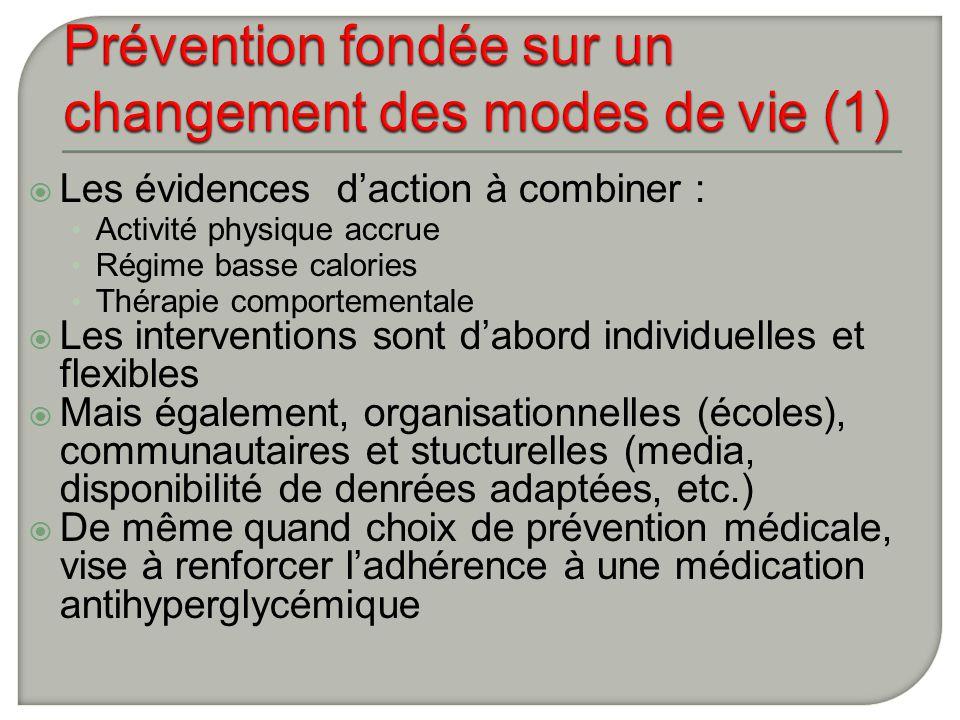 Prévention fondée sur un changement des modes de vie (1)