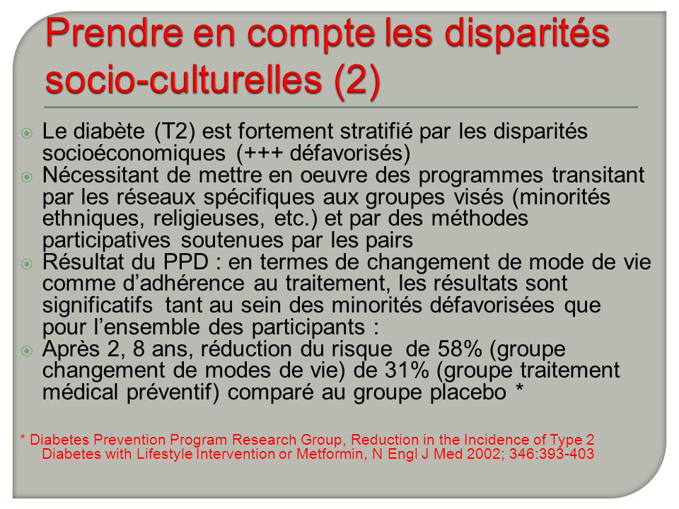 Prendre en compte les disparités socio-culturelles (2)