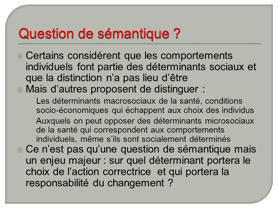 Question de sémantique