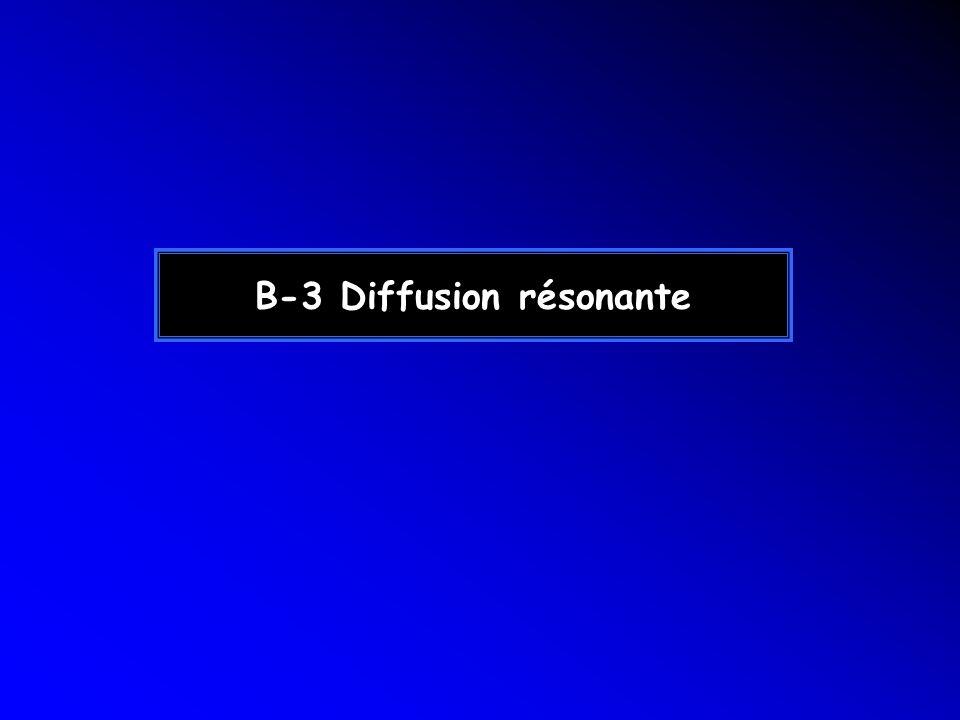 B-3 Diffusion résonante