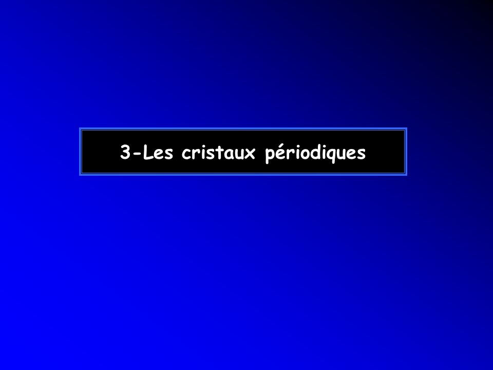 3-Les cristaux périodiques