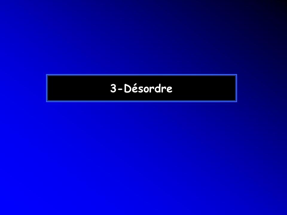 3-Désordre