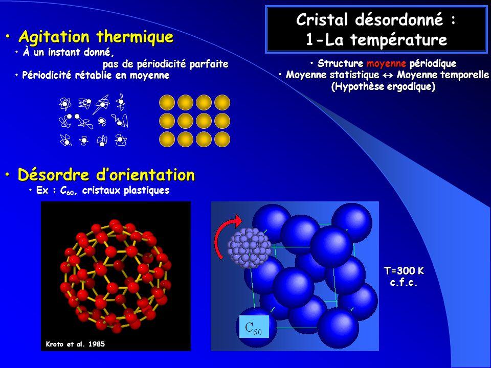 Cristal désordonné : 1-La température