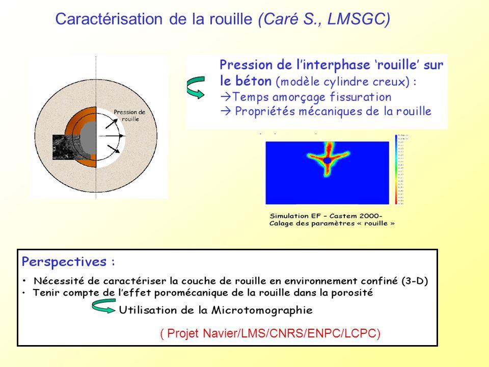 Caractérisation de la rouille (Caré S., LMSGC)