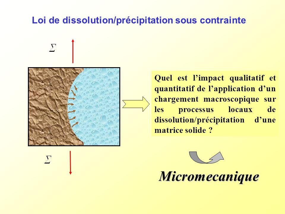 Loi de dissolution/précipitation sous contrainte