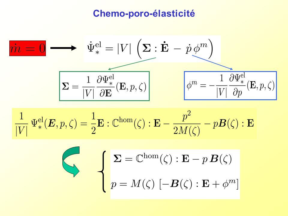 Chemo-poro-élasticité