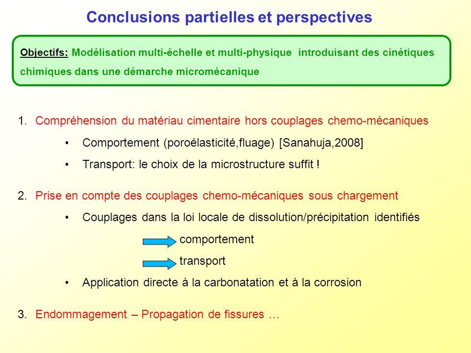 Conclusions partielles et perspectives