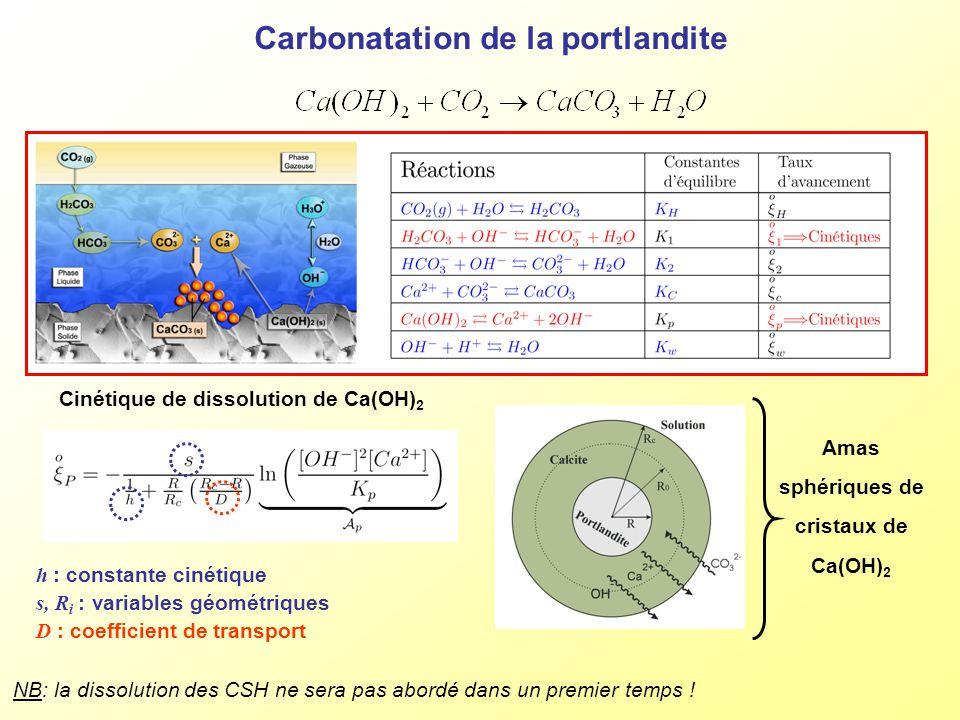 Carbonatation de la portlandite