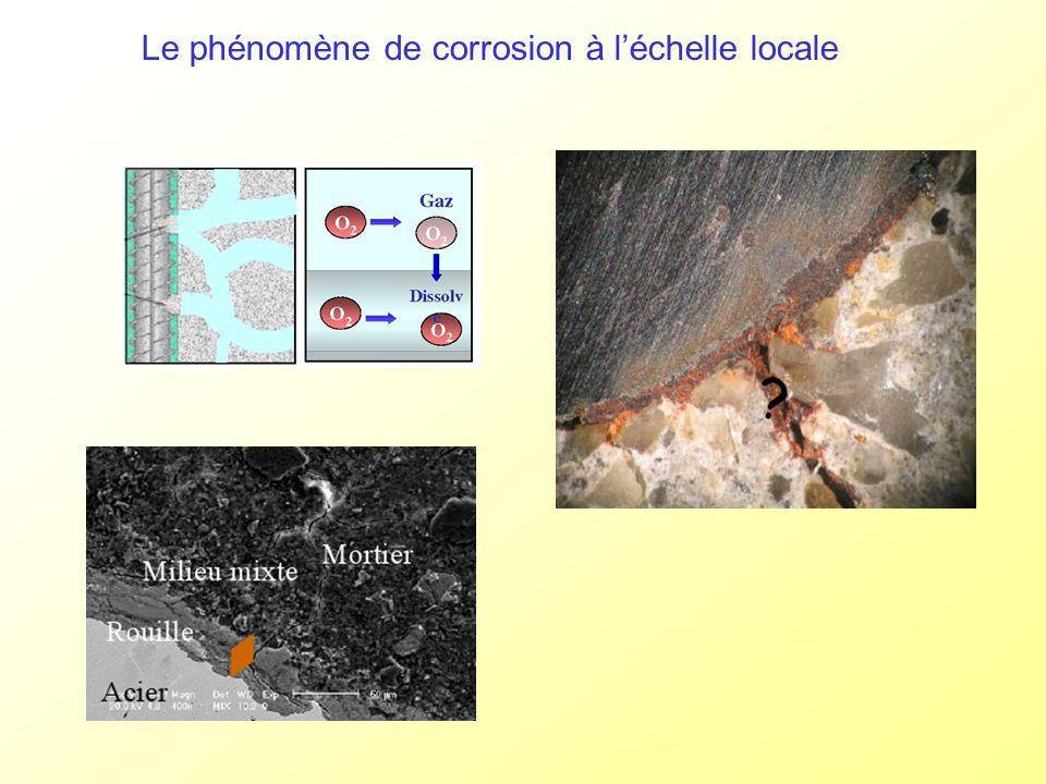 Le phénomène de corrosion à l'échelle locale