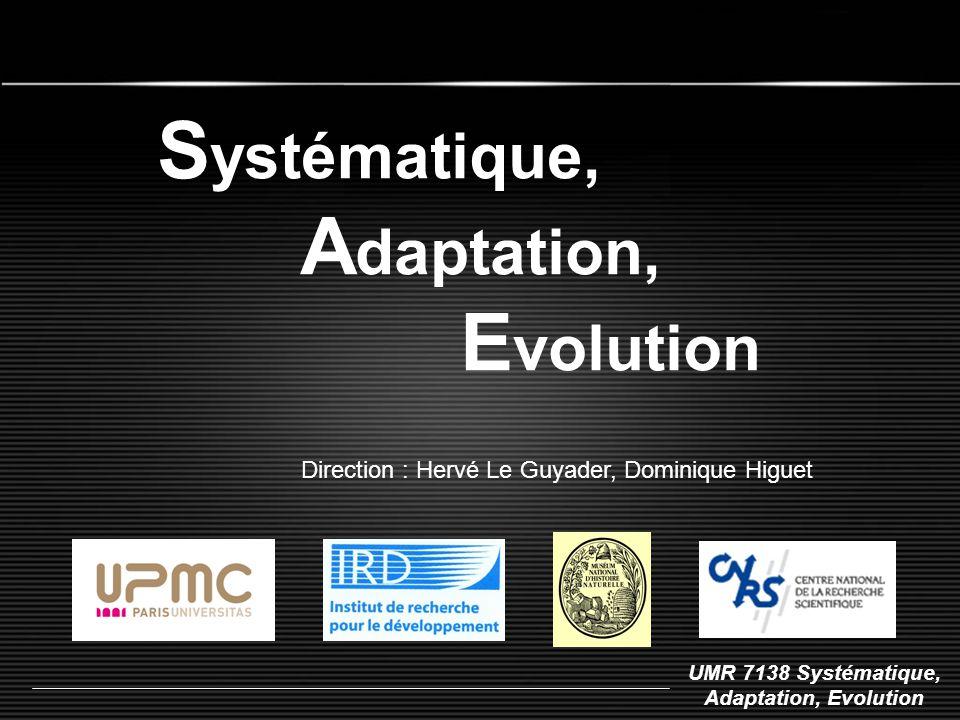 Systématique, Adaptation, Evolution