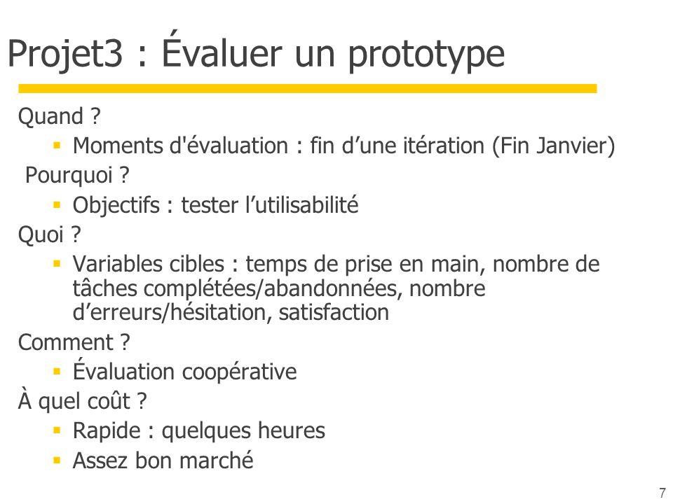 Projet3 : Évaluer un prototype